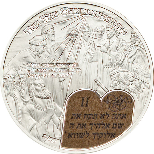 2nd. Commandment $2 Palau 2014 Silver Proof Coin