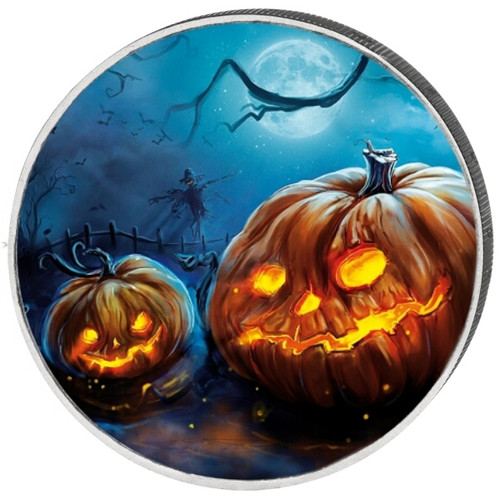2 Euro Halloween Colored Coin 2015
