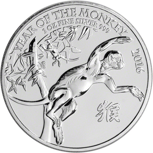 2016 Great Britain £2 -1 oz Silver Year of the Monkey Coin