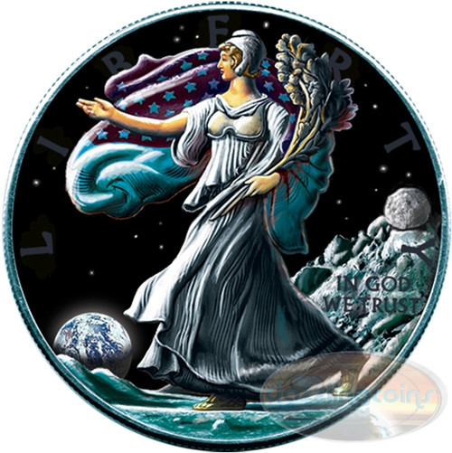 Ounce of Space - Moon - 2016 American Silver Eagles 1oz