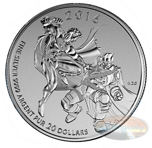 2016 $20 Fine Silver Coin - Batman Versus Superman