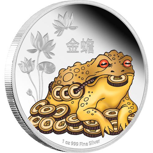 MONEY TOAD - Feng Shui Series Niue 2016 1 oz Silver Coin