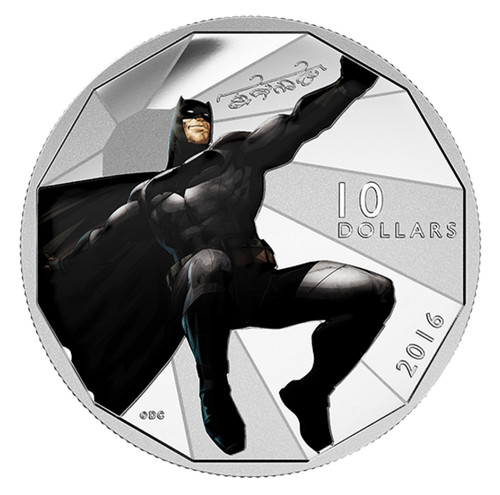 BATMAN - Batman Versus Superman Dawn of Justice 2016 $10 Silver Coin