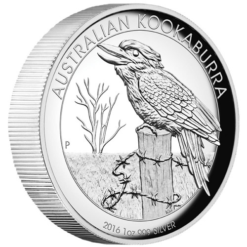 AUSTRALIAN KOOKABURRA - 2016 1 oz Pure Silver Proof High Relief Coin