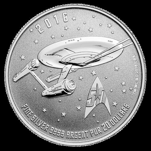 2016 $20 Silver Coin - Star TrekTM: Enterprise
