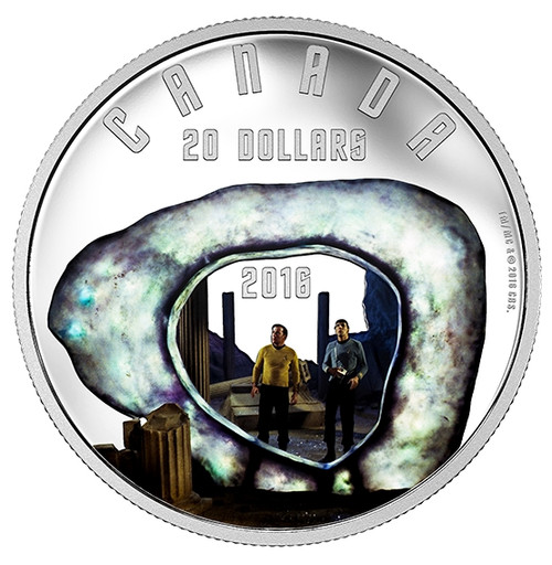 Iconic Star TrekTM Scenes (2016) Pure Silver Colored Coin
