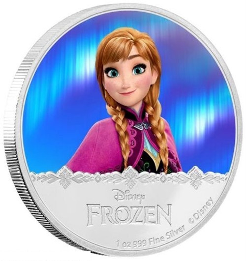 Anna - Disney Frozen Series- 2016 Niue 1 oz Silver Coin