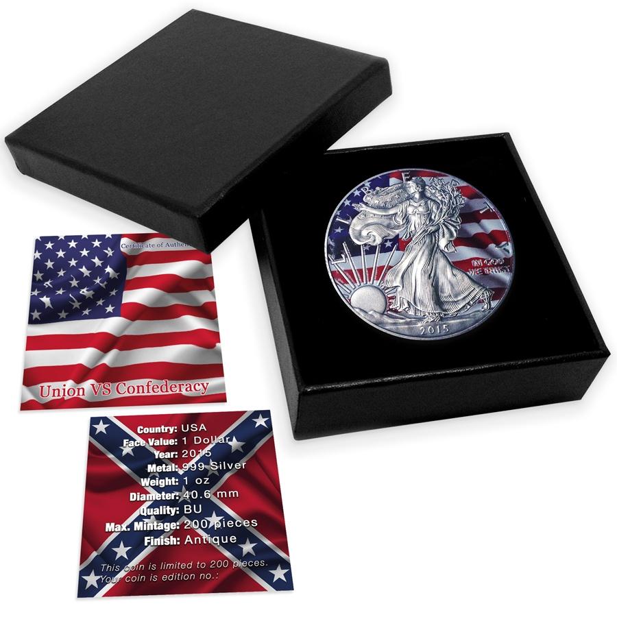 Union Vs Confederacy 2015 1 Oz American Silver Eagle