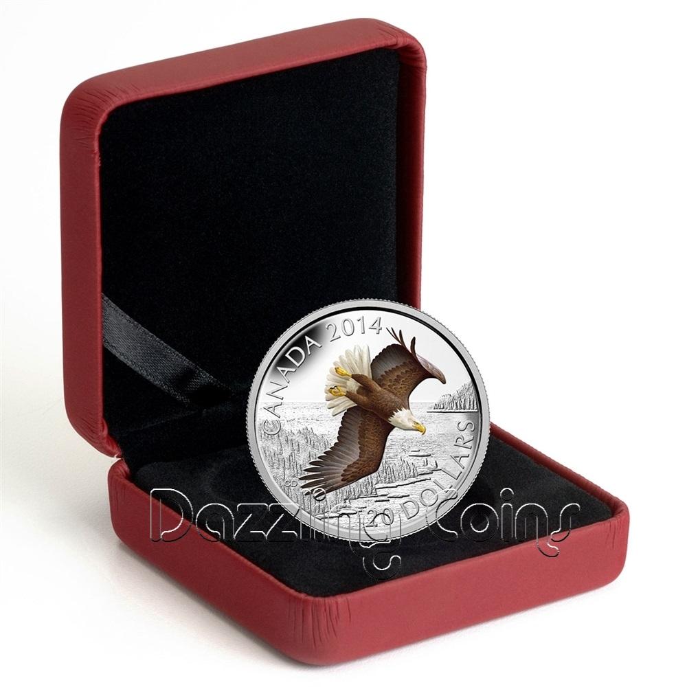 20 1 Oz 9999 Silver Color Coin Soaring Bald Eagle