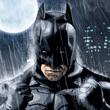 Rainy Knight, Batman, Christian Bale, Brian C. Roll, Odyssey Art