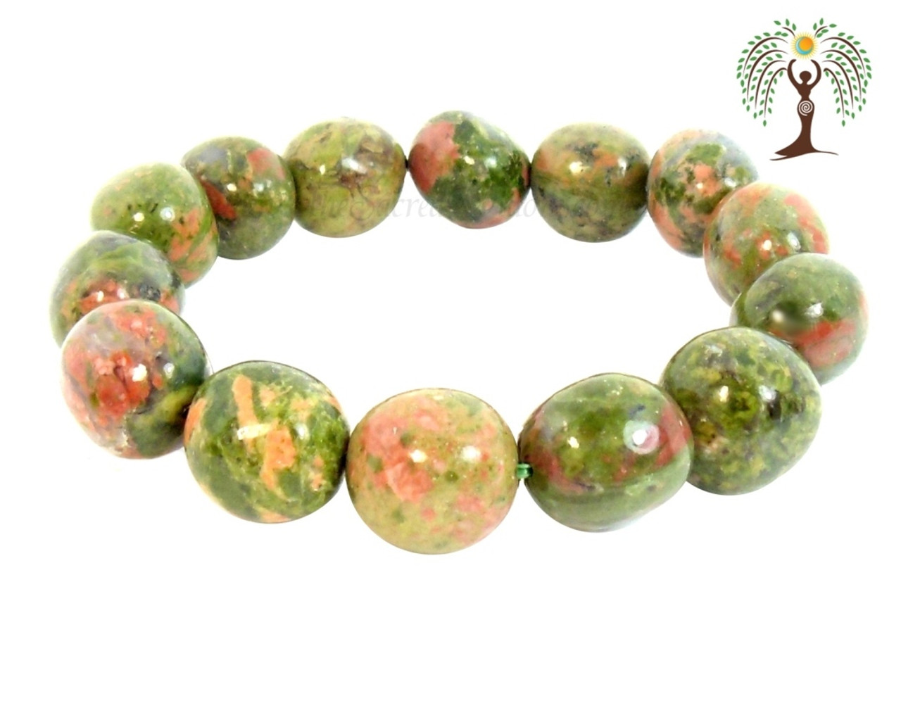 stock on photo and white natural backgroud unakite picture gemstone