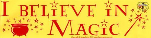 I Believe In Magic bumper sticker 29cm x 7.5cm