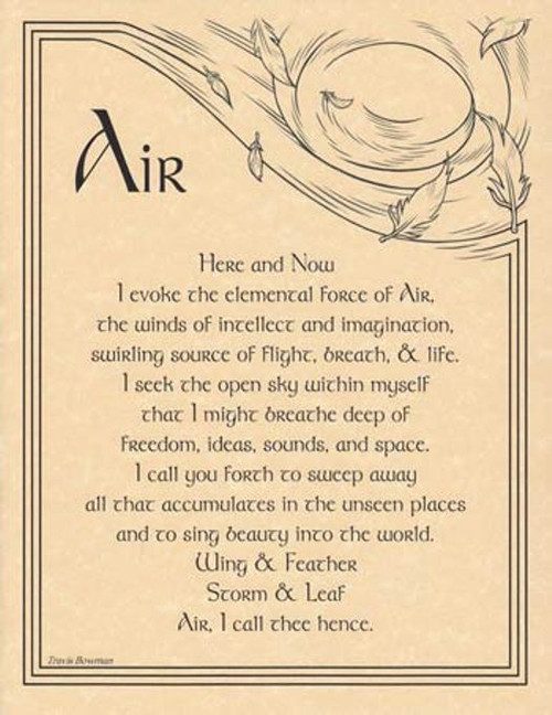 Air Evocation Poster on Parchment A4
