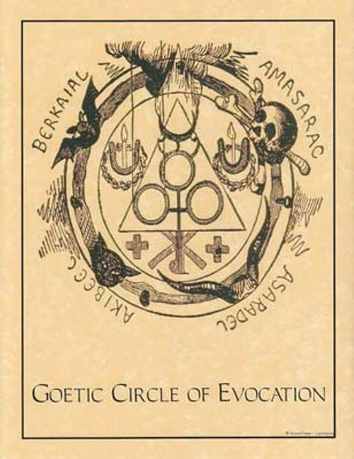 Goetic Circle of Black Evocations Poster on Parchment A4