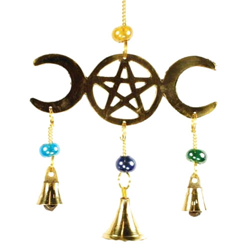 Three Bell Triple Moon Wind Chime