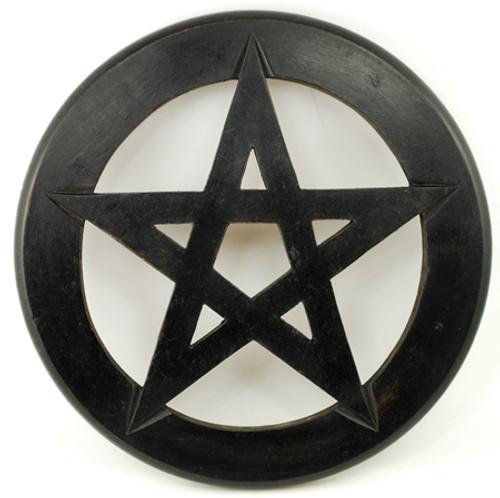 Black Wooden Pentagram wall hanging 9inch