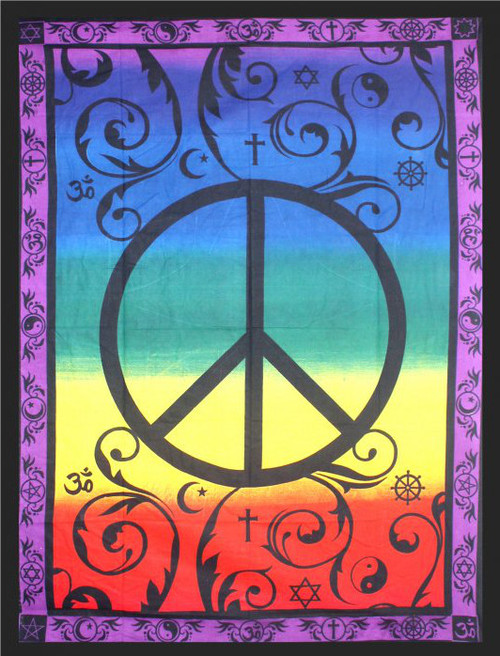 Global Peace Tapestry 208cm x 132cm 100% Cotton