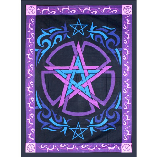 Pentacle Tapestry 208cm x 132cm 100% Cotton