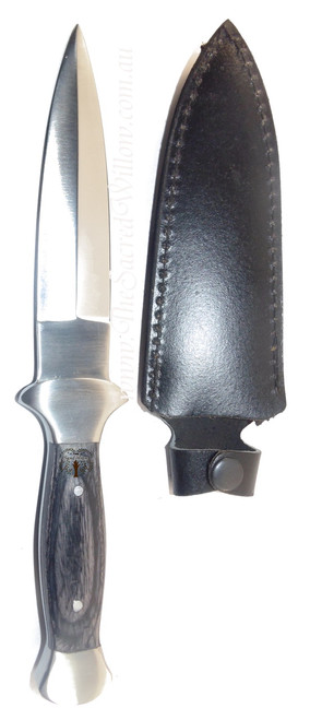 Black Faux Wooden Handled Athame 9 inch