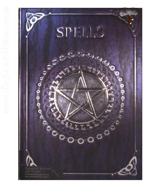Purple Pentagram Spell Book / Journal 15x20cm Luna Lakota