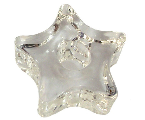 Clear Star Glass Chime Candle Holder