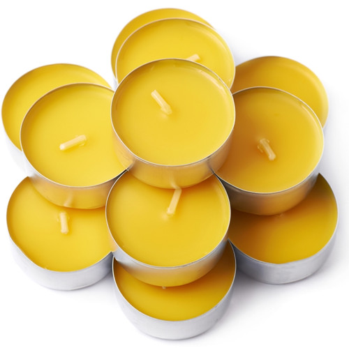25 Pack Beeswax Tealight Candles