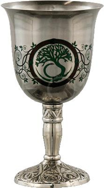 Tree of Life Stainless Steel Chalice 18cm