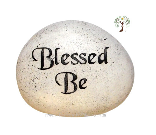 Blessed Be Engraved Decorative Stone