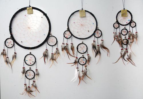 Black Suede with Crystals Dream Catcher Large
