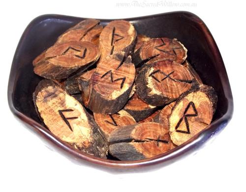 Cedar Wood rune set