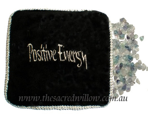 Mixed Stones Energetic Pillow - Crystal Filled Pillow