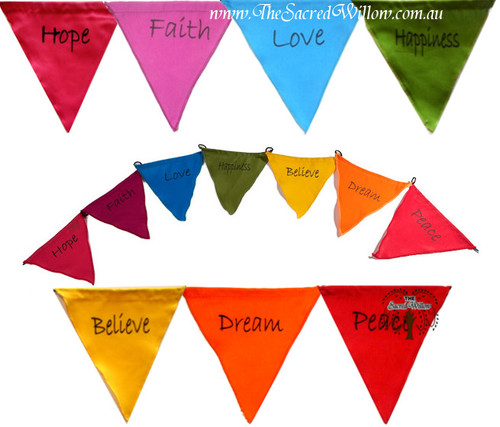 Positive Word Affirmation Flags - Triangle Bunting 130cm