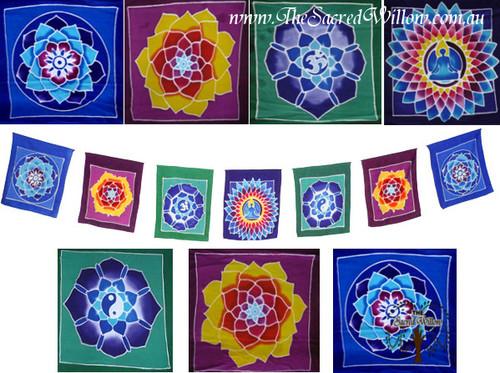 XLARGE Hand Painted Mandala Flags