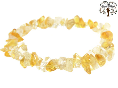 Citrine Gemstone Chip Stretch Bracelet A Grade