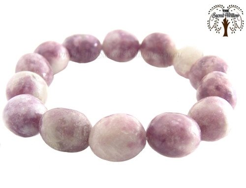 Lepidolite Nugget Stretch Bracelet Tumbled Stones