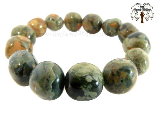 Rhyolite Nugget Stretch Bracelet Tumbled Stones