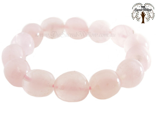 Rose Quartz Nugget Stretch Bracelet Tumbled Stones
