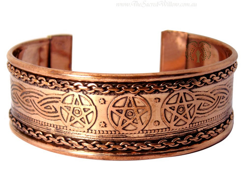 Pentagram Copper Cuff Bracelet