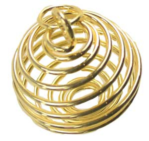 Gold Plated Crystal Cage