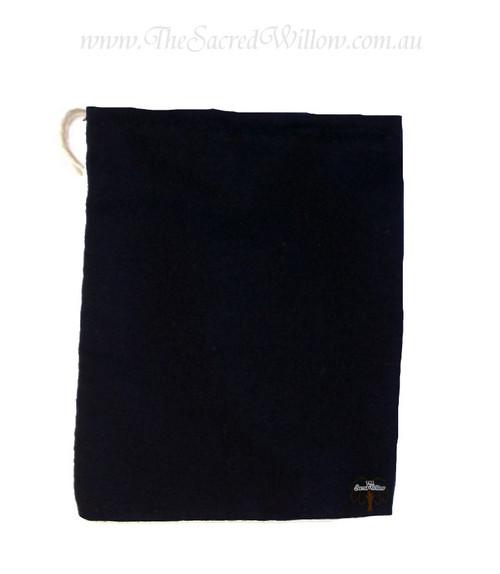 Black Cotton Mojo Bag 10cm