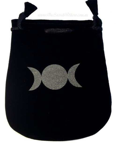 Triple Goddess Velveteen Bag / Mojo Bag 13cm / 5""