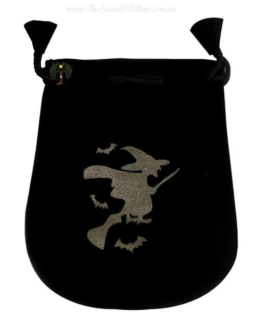 """Witch Velveteen Bag / Mojo Bag 13cm / 5"""""""