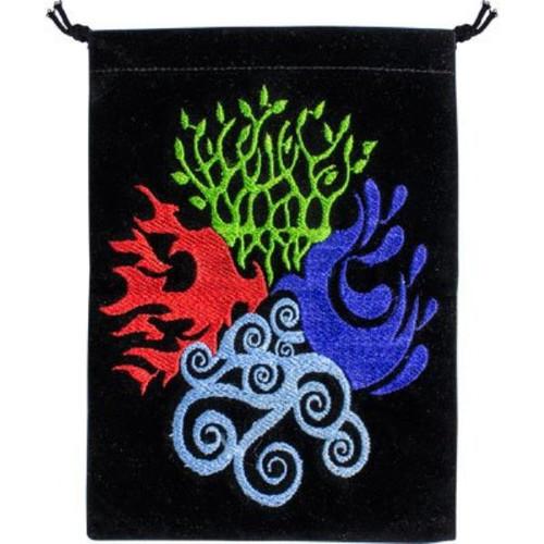 Four Elements Velveteen Drawstring Tarot Bag 18cm
