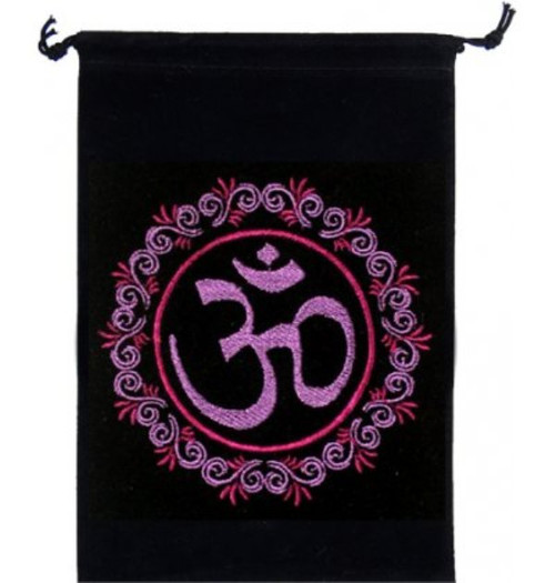 Om Velveteen Drawstring Tarot Bag 18cm