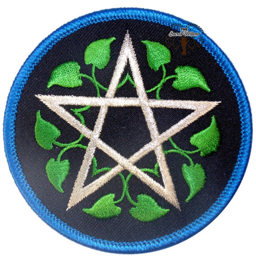 "Leafy Pentagram patch 3"" Iron On Patch"