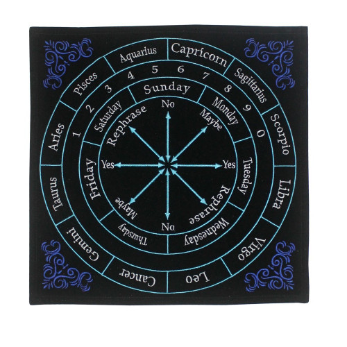 Embroidered Astrology Pendulum Mat 30 x 30cm