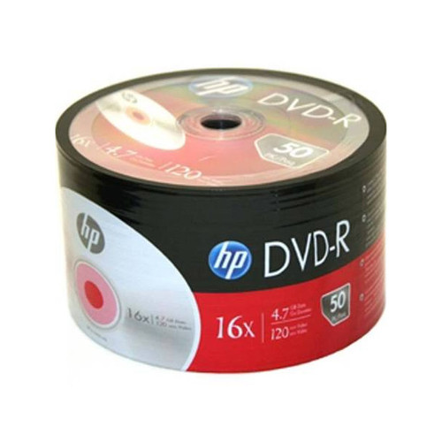HPDVDR -  HP 120-Minute DVD-R Media Spindle, 4.7 GB - 50 pack