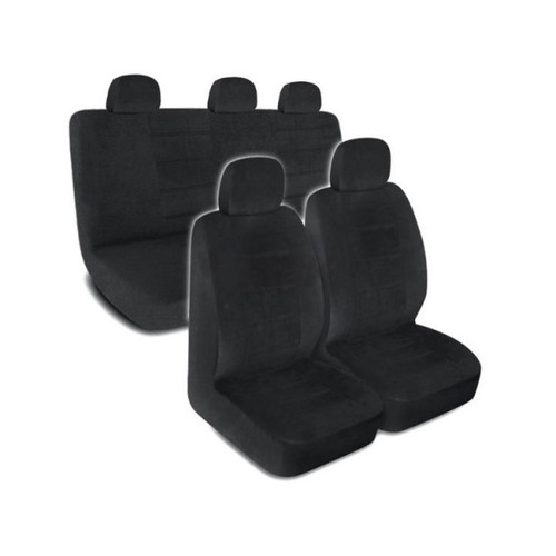 SC1122 - Deluxe Encore Car Seat Covers Low Back 9pc BLACK