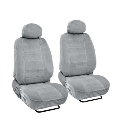 SC1903 - Deluxe Encore Front Seat Covers Low Back 4pcs  (Light grey )