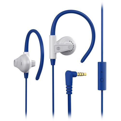 Sports Earhook Earphones with Mic   BLUE
